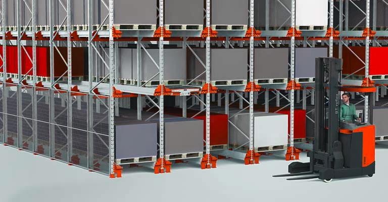 scaffalature-industriali semi automatici